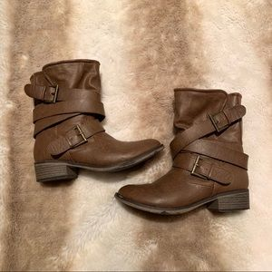 Mossimo Brown Buckle Boots